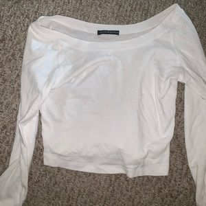 Brandy Melville Sweaters - Brandy Melville white long sleeve sweater